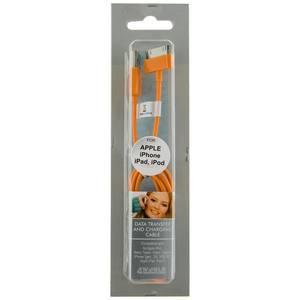 Cablu de date 4World pt iPad / iPhone /iPod transfer/incarcare  portocaliu