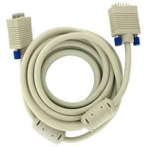 4World cablu monitor SVGA D-Sub , ferita, grey