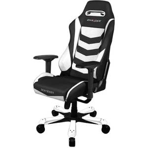 Scaun gaming DXRacer OH/IS66/NW Iron Black / White