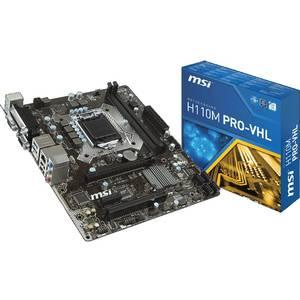 Placa de baza MSI H110M PRO-VHL Intel LGA1151 mATX