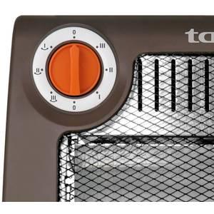 Radiator cu halogen Taurus Halogen 3H 1200W 3 trepte de putere maro