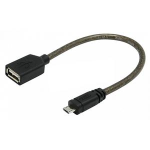 conectica UNITEK Cablu OTG Y-C438  USB 2.0. AF - microUSB BM  Black