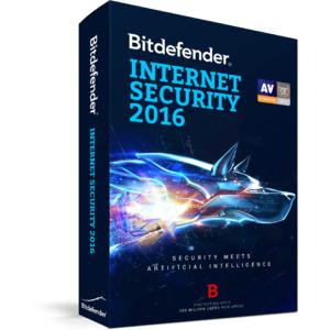 Antivirus BitDefender Internet Security 2016  1 user 2 ani