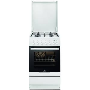 Aragaz mixt Electrolux EKK52550OW 4 arzatoare gaz cuptor electric grill alb