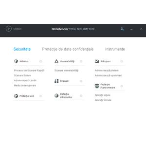 Antivirus BitDefender Total Security 2016 1 user 3 ani