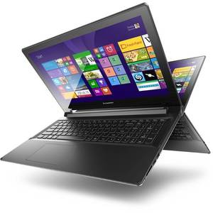 Laptop Lenovo Flex 2 15.6 inch HD Touch AMD E1-6010 4GB DDR3 500GB HDD Windows 8.1 Black Renew