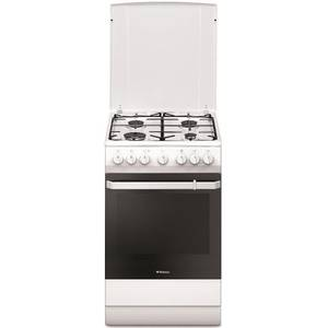 Aragaz mixt Hansa FCMW581009 plita gaz 4 arzatoare cuptor electric 65l alb