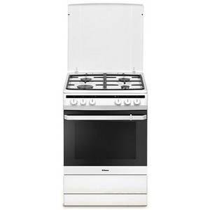 Aragaz mixt Hansa FCMW68020 plita gaz 4 arzatoare cuptor electric 65l alb