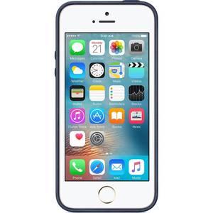 Husa Protectie Spate Apple iPhone SE Leather Case - Midnight Blue