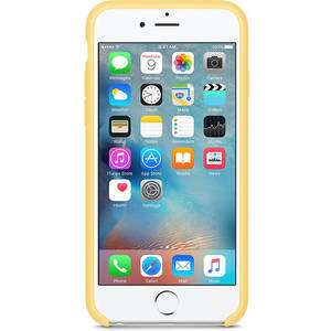 Husa Protectie Spate Apple iPhone 6s Silicone Case - Yellow