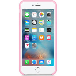 Husa Protectie Spate Apple iPhone 6s Plus Silicone Case - Light Pink