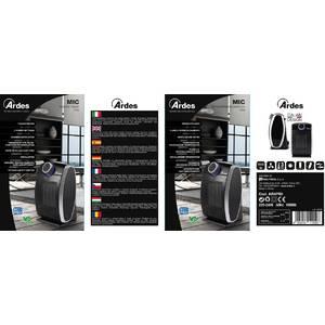 Aeroterma Ardes AR4P09 1800W 2 setari de caldura plus ventilator neagra