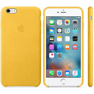 Husa Protectie Spate Apple iPhone 6s Plus Leather Case - Marigold