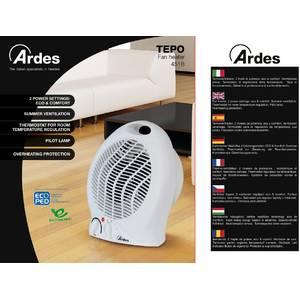 Aeroterma Ardes AR451B 2000W 2 setari de caldura plus ventilator alba