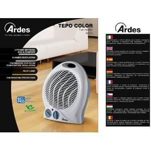 Aeroterma Ardes AR451C 2000W 2 setari de caldura plus ventilator alba