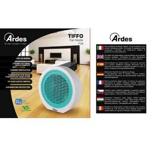 Aeroterma Ardes AR4F04 2000W 2 setari de caldura plus ventilator alb / turcoaz