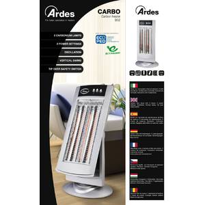 Radiator Ardes AR4B02 900W 2 setari de caldura argintie