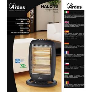 Radiator cu halogen Ardes AR455B 1600W 3 setari de caldura negru