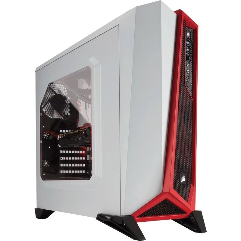 Carcasa Carbide Series Spec-alpha White Red