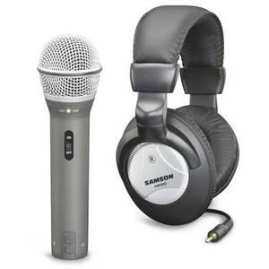 Microfon Samson Q2U Recording Pak si casti HP20
