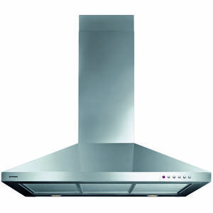 Hota Decorativa Pyramis CL5 Square Chimney Turbo 90cm 1 motor 3 viteze 449mc/h Argintie
