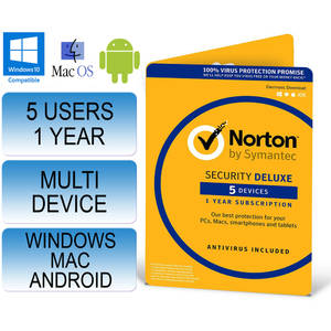 Symantec NORTON SECURITY 2.0  1 USER 5 DEVICES