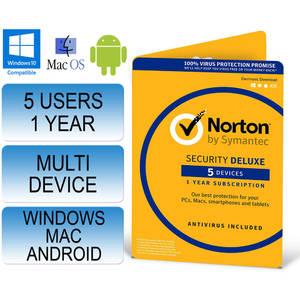 Antivirus Symantec NORTON SECURITY 2.0  1 USER 5 DEVICES