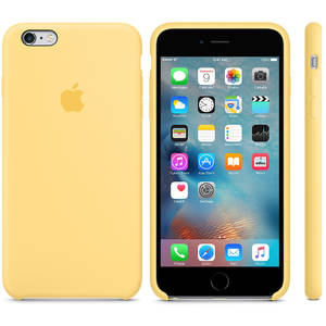 Husa Protectie Spate Apple iPhone 6s Plus Silicone Case - Yellow