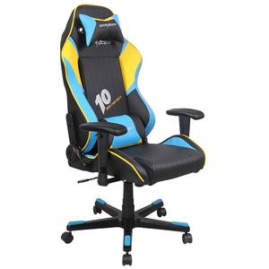 Scaun gaming DXRacer DF53/NBY Black / Blue / Yellow