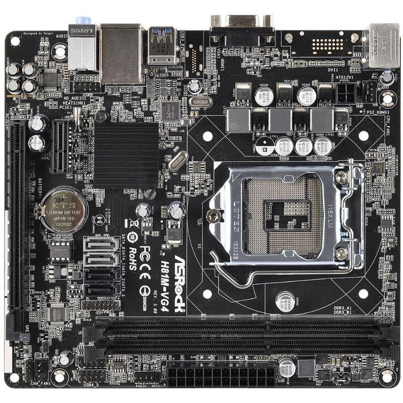 Placa De Baza H81m-vg4 R3.0 Intel Lga1150 Matx