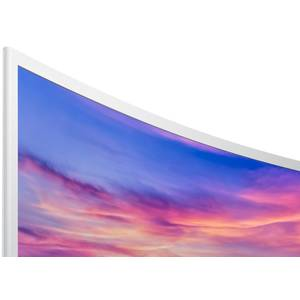 Monitor LED Samsung LC32F391FWUXEN 31.5 inch 4ms curbat White