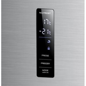 Combina frigorifica Albatros CNFX47A+ FULL NO-FROST, DIGITAL, 338(243+95) l, usi inox