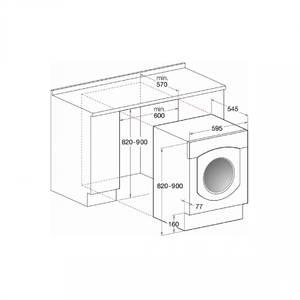 Masina de spalat rufe Hotpoint Ariston CAWD 129(EU)/HA 1200 rpm, 7+5 kg