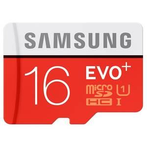 Card Samsung microSDHC EVO Plus 16GB Clasa 10 microSD UHS-I U1 80MB/s cu adaptor SD