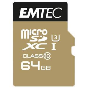 Card Emtec microSDXC 64GB Clasa 10 UHS-I U3 90MB/s