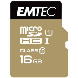 Card Emtec microSDHC Gold+ 16GB Clasa 10 UHS-I U1 21MB/s