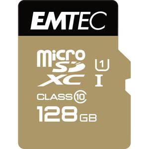 Card Emtec microSDXC Gold+ 128GB Clasa 10 UHS-I U1 21MB/s