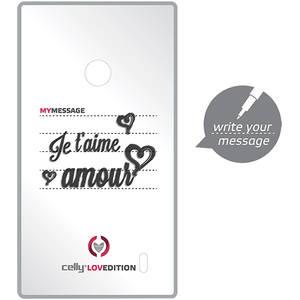 Husa Protectie Spate Celly CLOVE321WH Clove Hidden Message White pentru Samsung Galaxy S4 Mini