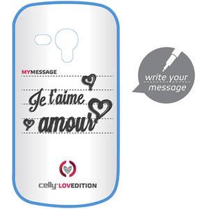 Husa Protectie Spate Celly CLOVE280BL Clove Hidden Message Blue pentru Ssamsung Galaxy S3 Mini