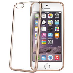 Husa Protectie Spate Celly BCLIP6SPGD Laser Gold pentru iPhone 6s Plus