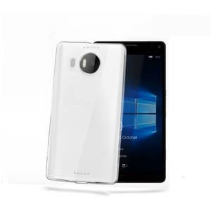 Husa Protectie Spate Celly GELSKIN524 Transparent pentru Microsoft Lumia 950 XL