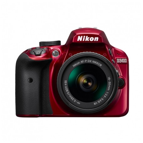 Aparat Foto Dslr D3400 24.2 Mpx Kit Af-p 18-55mm Vr Red