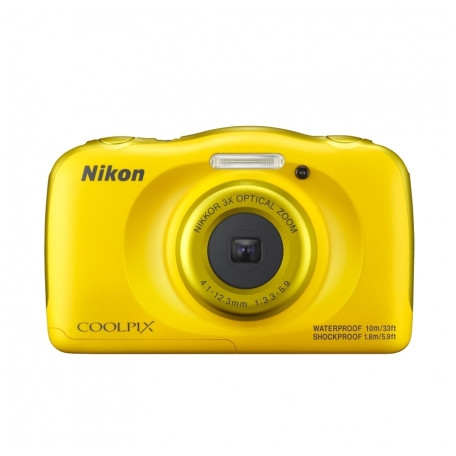 Aparat Foto Compact Coolpix W100 13.2 Mpx Zoom Optic 3x Subacvatic Backpack Kit Yellow