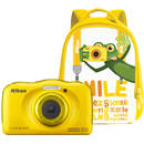 Aparat foto compact Nikon Coolpix W100 13.2 Mpx zoom optic 3x subacvatic Backpack Kit Yellow