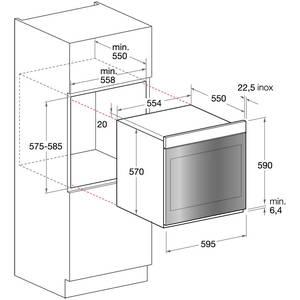 Cuptor electric Hotpoint FK 103EL 0 X 59 litri, control Touch, Clasa A-20%