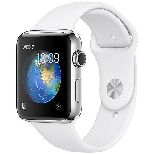Smartwatch Watch 2 Sport Silver Aluminium Case 42mm White Sport Band