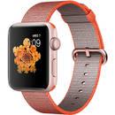 Watch 2 Gold Aluminium Case 42mm Orange Woven Nylon