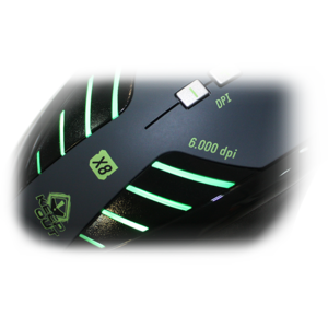 Mouse gaming Keepout X8 Black