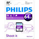 Card Philips SDXC 64GB Clasa 10