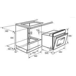 Cuptor electric Candy FPE649A/6X 65 litri A 2100W Inox/Argintiu